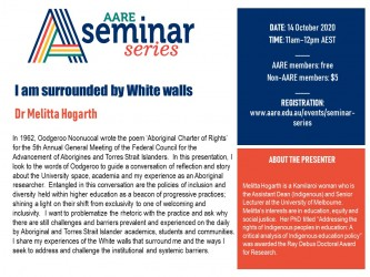 AARE Seminar Flyer 14 October Hogarth