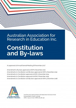 AARE Constitution and By laws front page