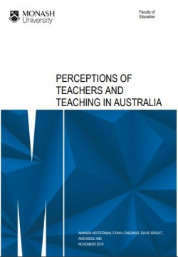perceptions of teachers and teaching in Aust