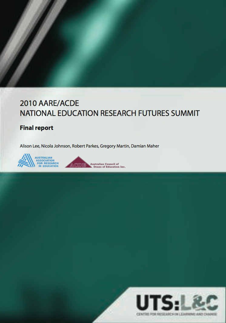2010 AARE/ACDE education research futures summit